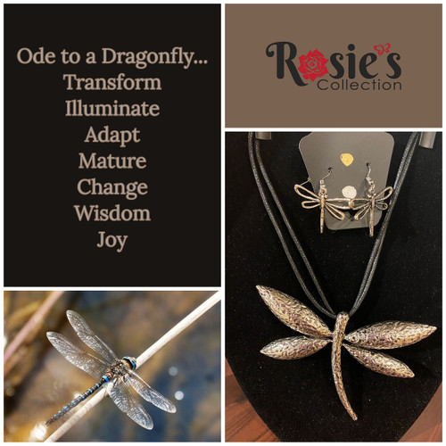 Dragon Fly Necklace with Earrings
