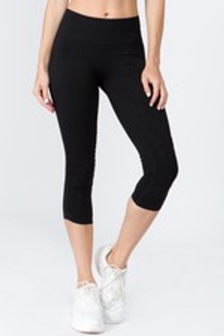 Yelete Active High Rise Cinched - Black