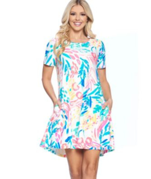 Aryeh Akira Swing Dress in white floral