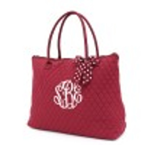 QSD2705(MRWH) Quilted Solid Large Tote