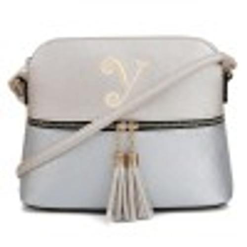 HY3031P(CHA/SL) Fashion Crossbody Bag with Tassel