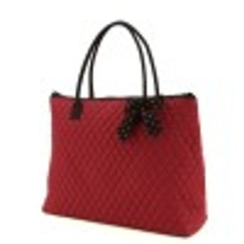 QSD2705(MRBK) Quilted Solid Large Tote