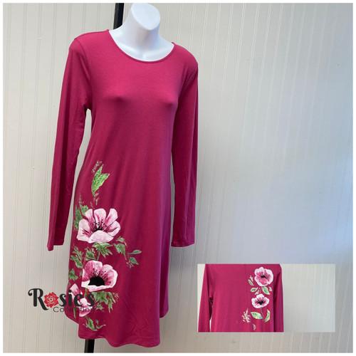 Apparel Designs by Bobbie Cropp - Pink Flowers - Size M