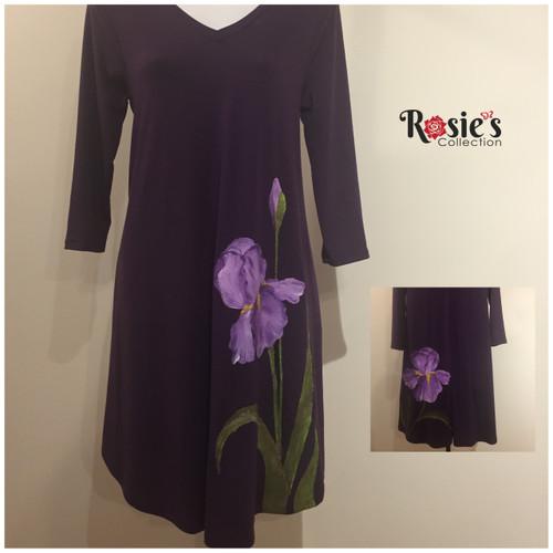 Apparel Designs by Bobbie Cropp - Purple Iris - Size Medium