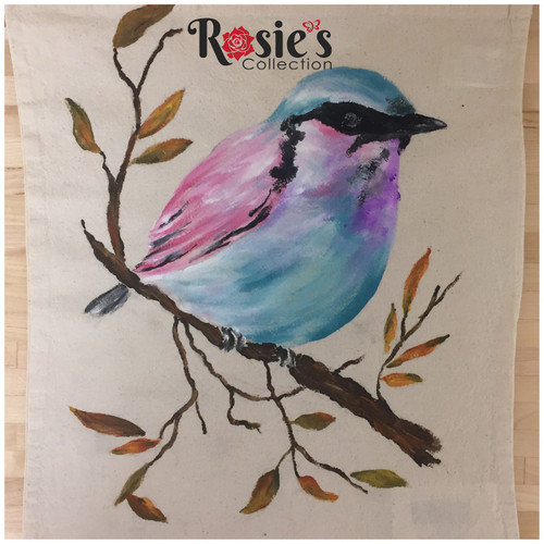 Tote Bag Designs by Bobbie Cropp -  Blue Bird of Happiness