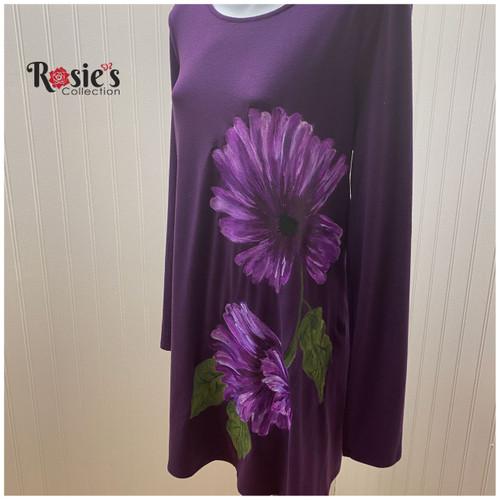 Apparel Designs by Bobbie Cropp flower - Purple 2 Shirt XLarge