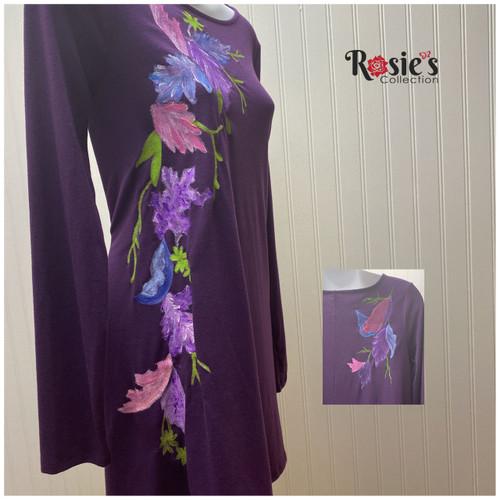 Apparel Designs by Bobbie Cropp flower - Purple 2 Shirt small
