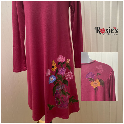 Apparel Designs by Bobbie Cropp Pink Dress Large