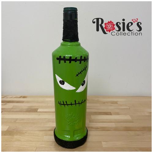 Green Monster Halloween Bottle Table Décor