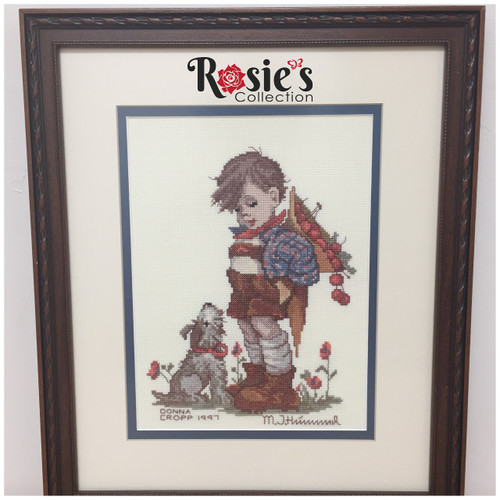 Cross Stitch by Donna Cropp - Boy with his dog