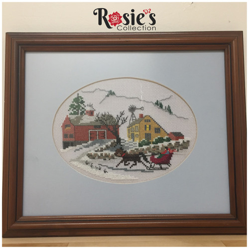 Cross Stitch by Donna Cropp - Farm House and Horse Drawn sled