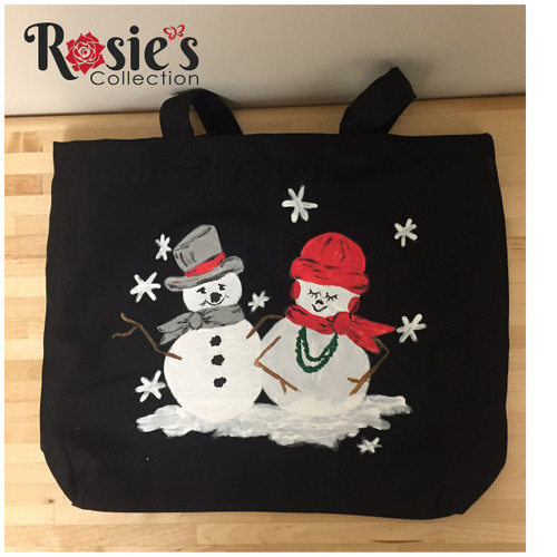 Tote Bag Designs by Bobbie Cropp - Mr and Mrs Snowman