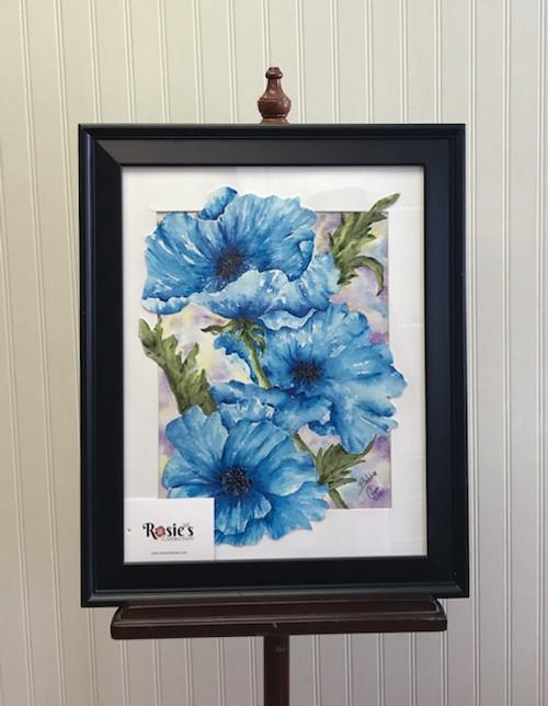 Bobbie Cropp Artwork- Blooming Sapphire Painting