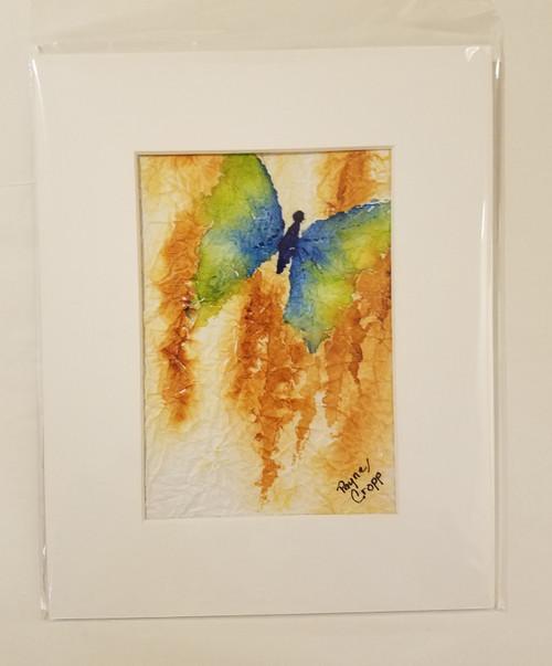 Bobbie Cropp Artwork - Fly Away - 5x7 with 8x10 Mat