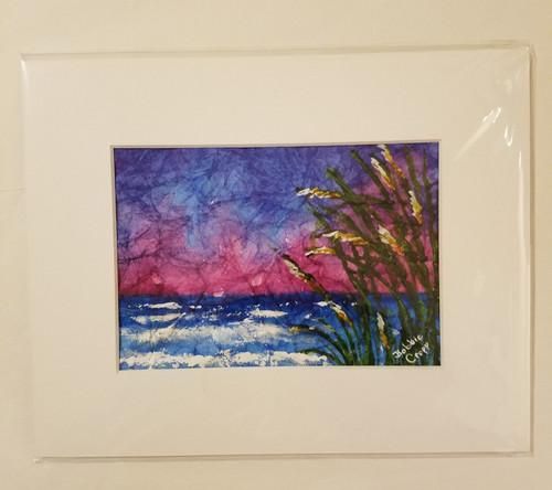 Bobbie Cropp Artwork - Ocean Side - 5x7 with 8x10 Mat