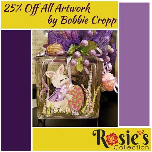 Bobbie Cropp Artwork- pink egg block