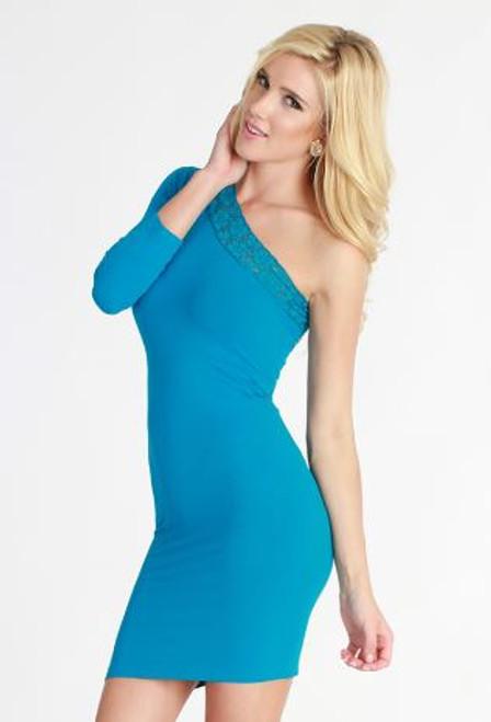 Niki Biki Lace One Shoulder Dress NS5264
