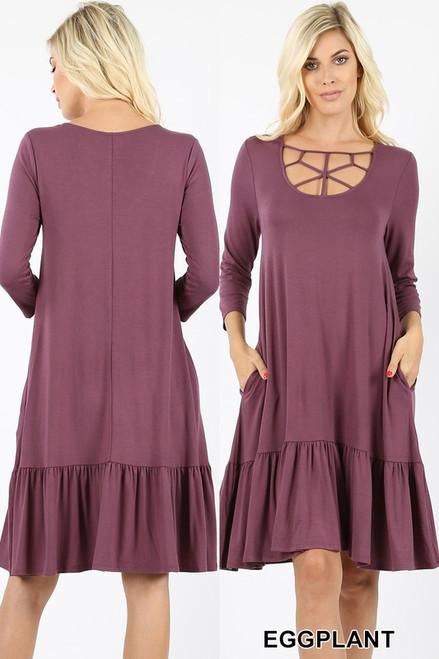 Zenana Viscose Dress 7092 7093