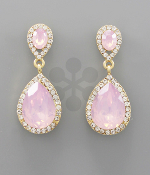 Golden Stella Jewelry EP11092-012 RoseOpal/Gold Earrings