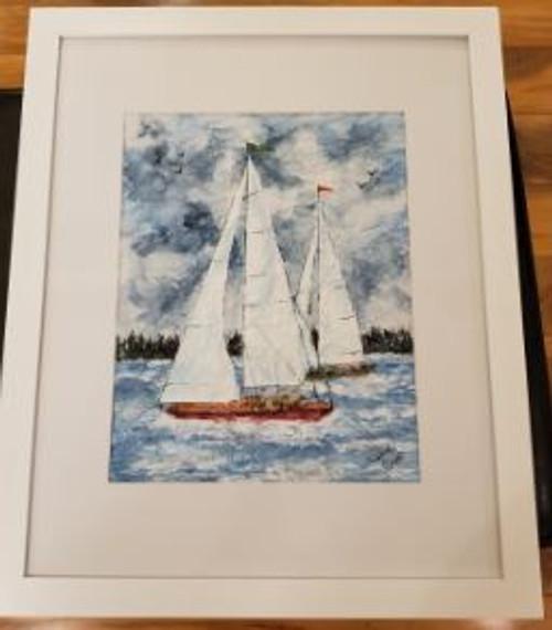 "Bobbie Cropp Artwork - ""A Day on the Lake"""