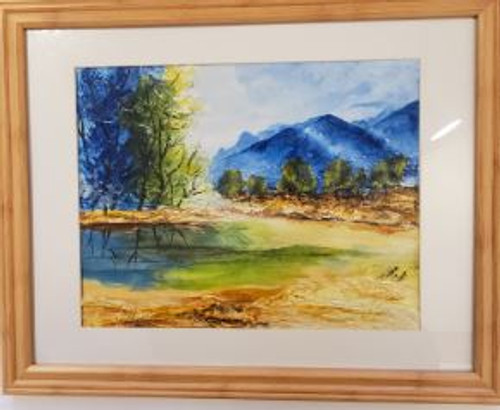 "Bobbie Cropp Artwork - ""Simple Landscape with a wrinkle or two"""