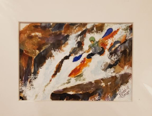 Bobbie Cropp Artwork - Go with the Flow - 5x7 with 8x10 Mat