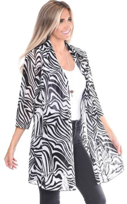 Camille & Co Black & White Cardigan