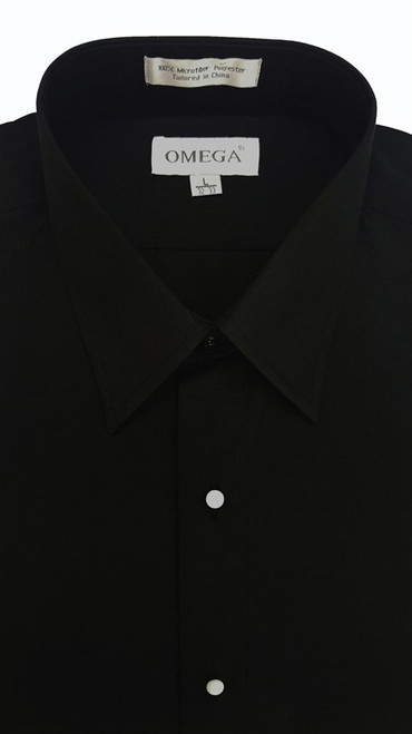 Mens Shirt - Microfiber, no pleat, laydown collar