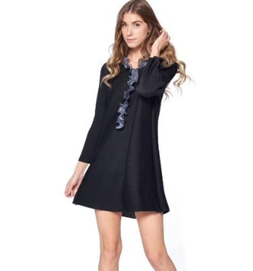 Pleastshop Black Dress 87533
