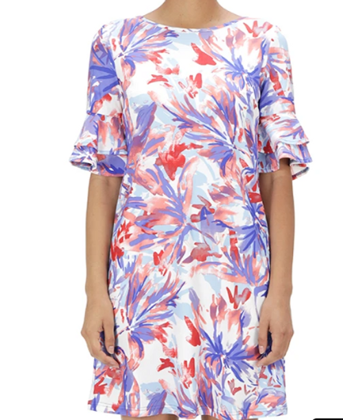 Cielo Ruffle Sleeves in Floral