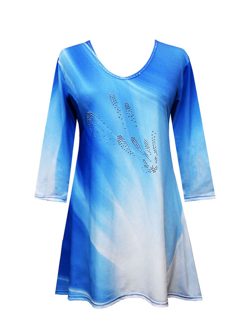 Valentina PH-TUNIC 20103 Blue and White Tunic