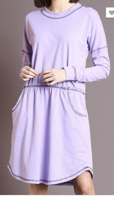 Relaxed Dress with Pockets 11131M