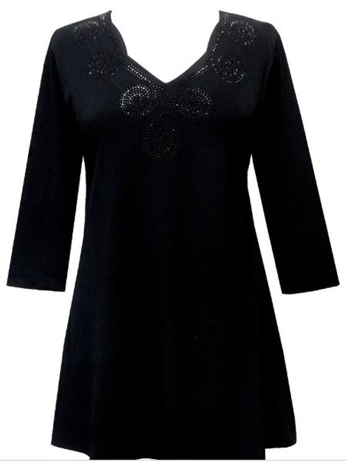 Valentina Black/Black Moon Tunic