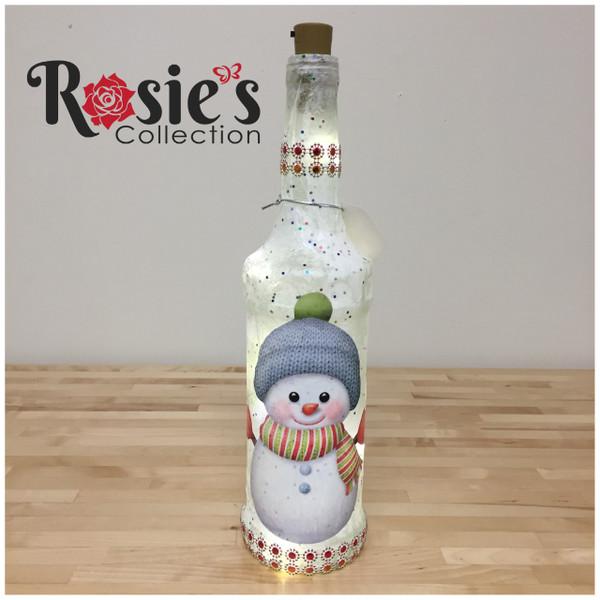 LED Wine Bottle Christmas Table Decor 5