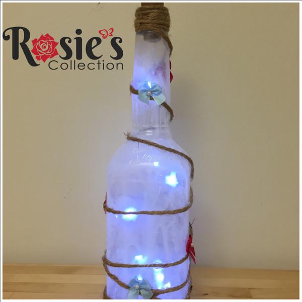 LED Milky White Square Bottle Table Decor 9
