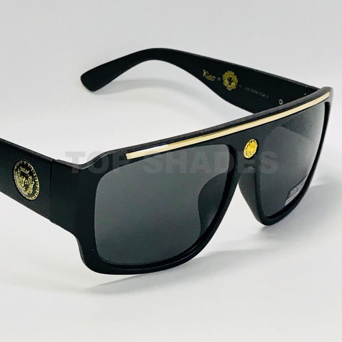 Aviator Plastic and Gold  Matte Black Brown White Metal Square  Frame Kleo Reggaeton Hip-Hop  Brown Black Gradient Lens Men Sunglasses Gafas de Sol Lentes de Moda cuadrado Aviador Para Hombres
