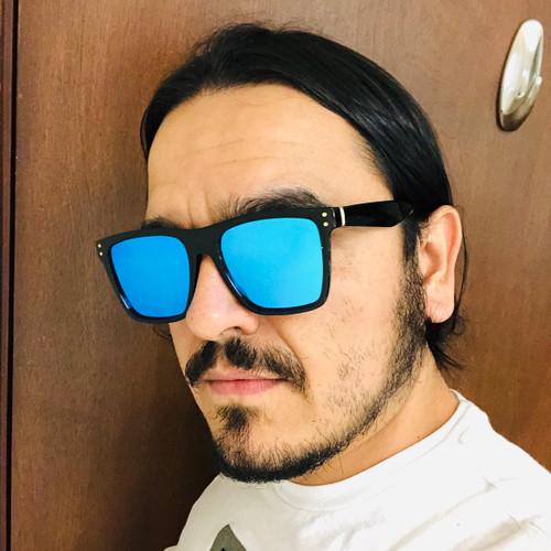 Square Plastic Fashion Sunglasses Sport Aviator Square Shades