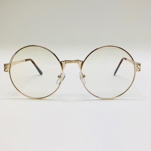 Clear Round Gold Metal Frame Migos Hip Hop Rap Glasses