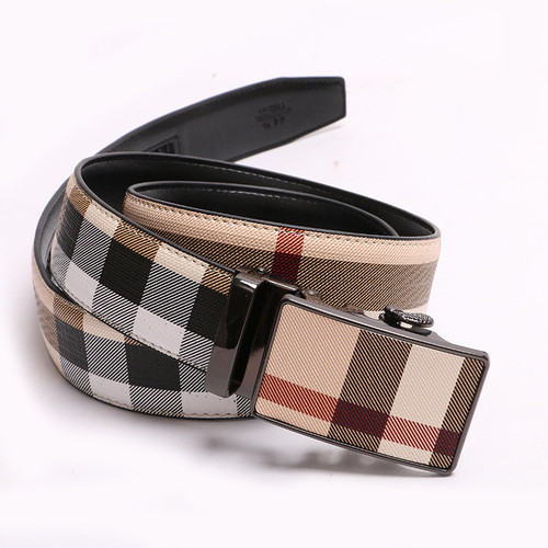 Fashion Designer Automatic Ratchet Metal Buckle Buckle 3.5 cm Leather Belt