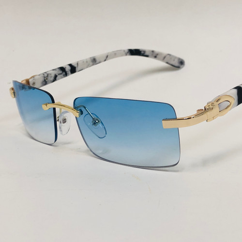 Rimless Square Glasses Sunglasses Classic Fashion Hip Hop Rap Migos Style