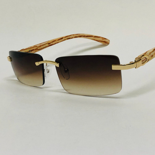 Rimless Square Glasses Sunglasses Classic Fashion Hip Hop Rap Migos Style