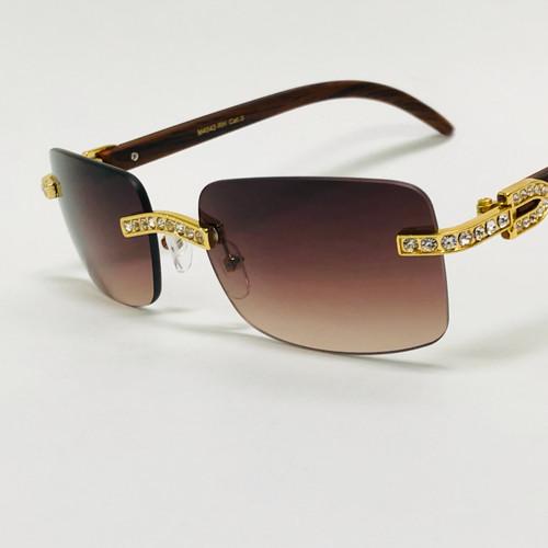 Rimless Square Diamond Glasses Sunglasses Classic Fashion Hip Hop Rap Migos Style
