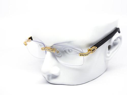 Rimless Square Diamond Clear Glasses Sunglasses Classic Fashion Hip Hop Rap Migos Style