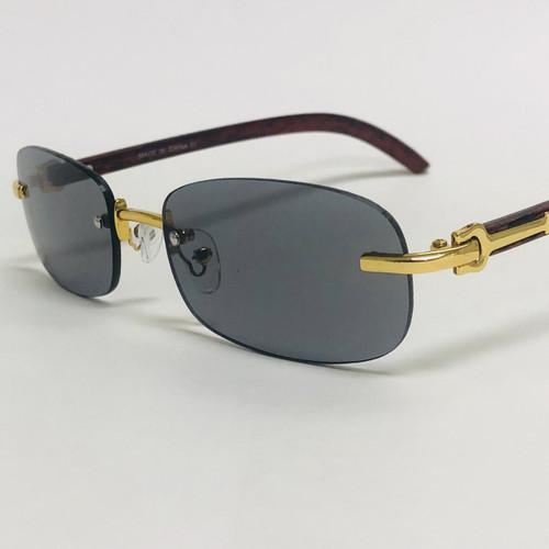 Rimless Small Men Sunglasses Black Lens Hip Hop Migos Quevo Style Square Shades Classic
