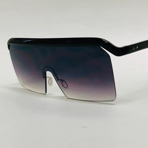 Men Women Designer Sunglasses Oversized Large Single Flat Top Lens Style Shades