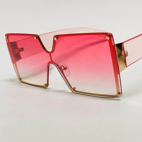 Women Sunglasses Oversized Large Square XL Flat Top Style Elegant Retro New  Luxury Rivet Stud