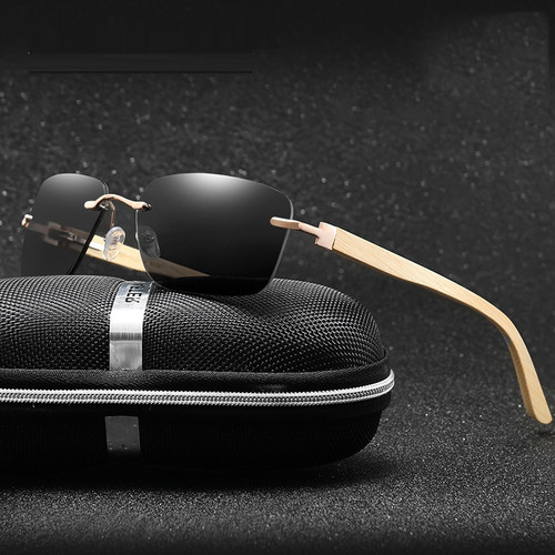 Mens Hip Hop Sunglasses Design Vintage Rimless Migos Buff Rectangular Gold Frame