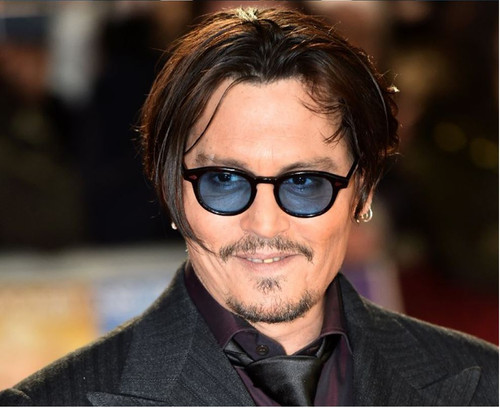Mens Sunglasses Johnny Depp Robert Downey Tinted Blue Yellow Red Purple Lens Retro Classic Fashion