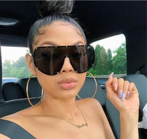 Men's Women's Sunglasses Design Fashion Oversize Shield New Style Polarized Lens  Gafas de Sol Lentes Espejuelos Moda Regalos Hombre Masculinos