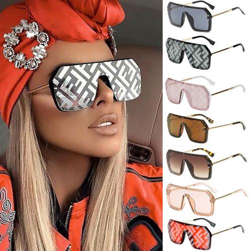 Oversized Big Designer Square F ancy Shades Retro Men Women Red Large Sunglasses Gafas Lentes
